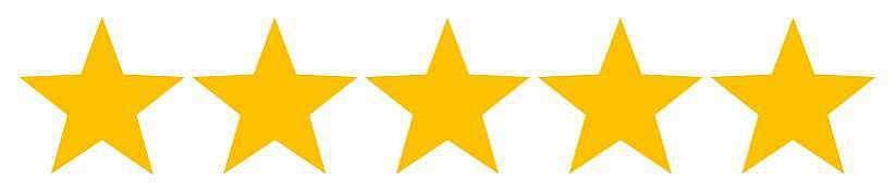 Mit 5/5 Sternen bewertet