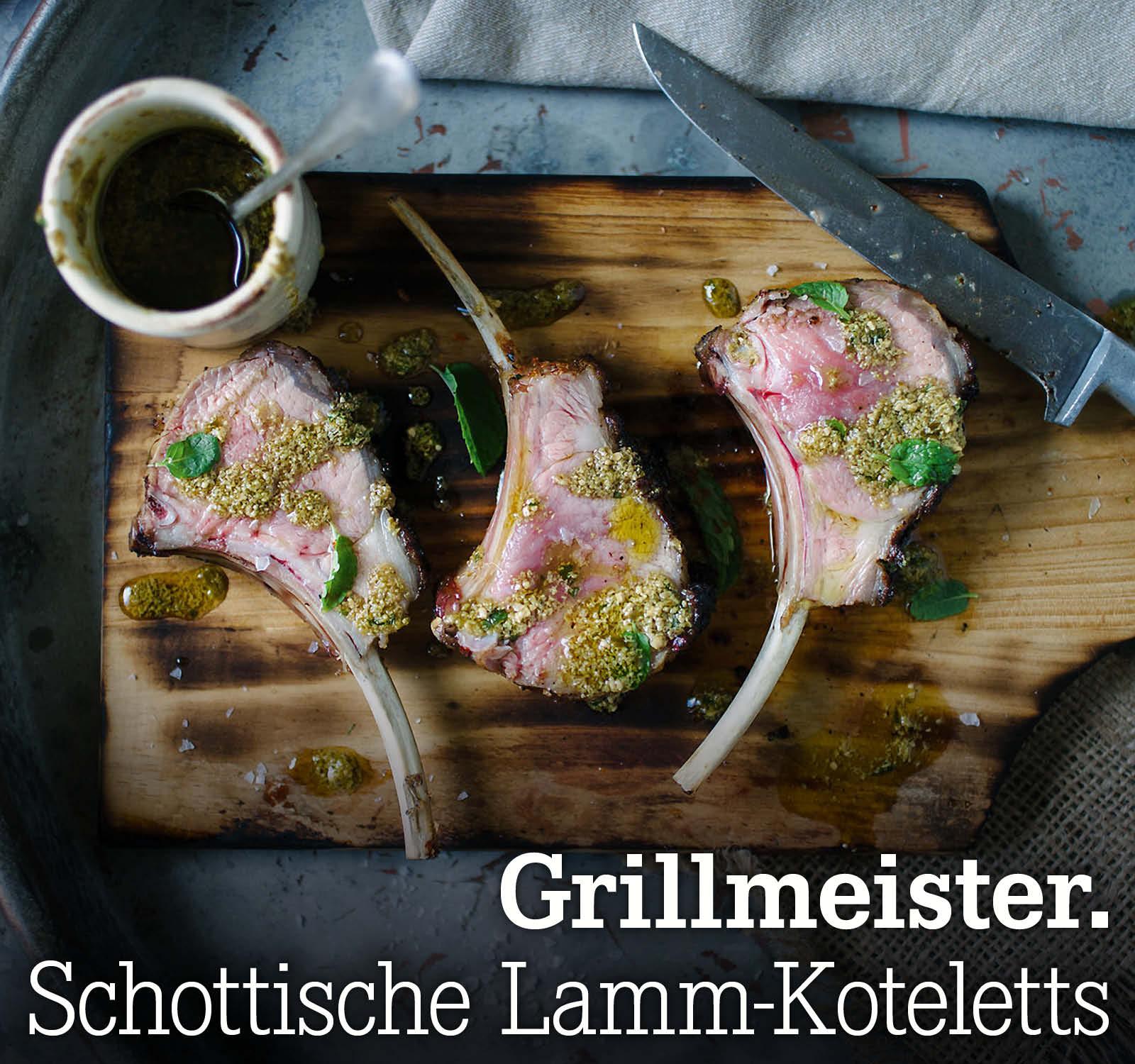 Grillmeister. Schottische Lamm-Koteletts