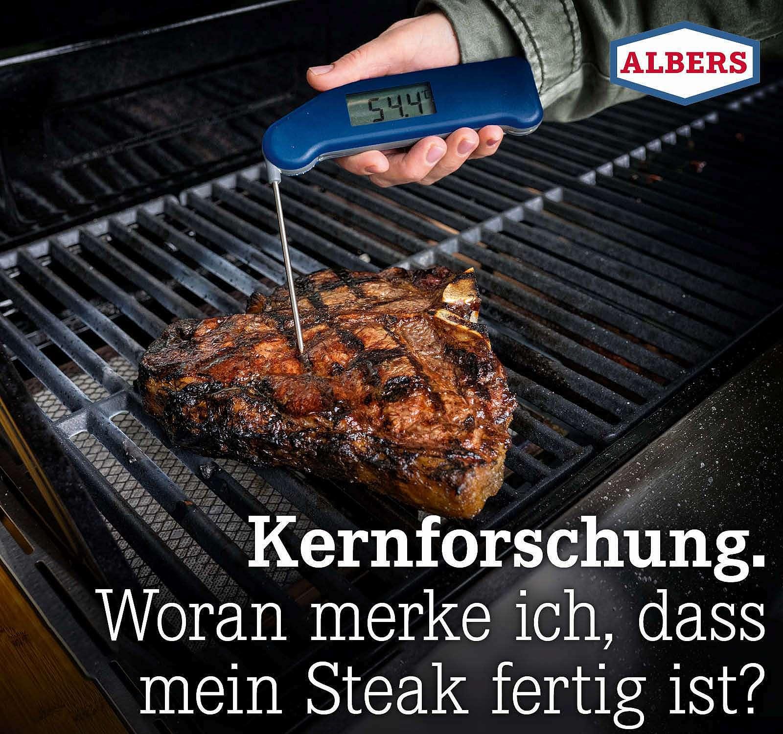 Kernforschung. Woran merke ich, dass mein Steak fertig ist?
