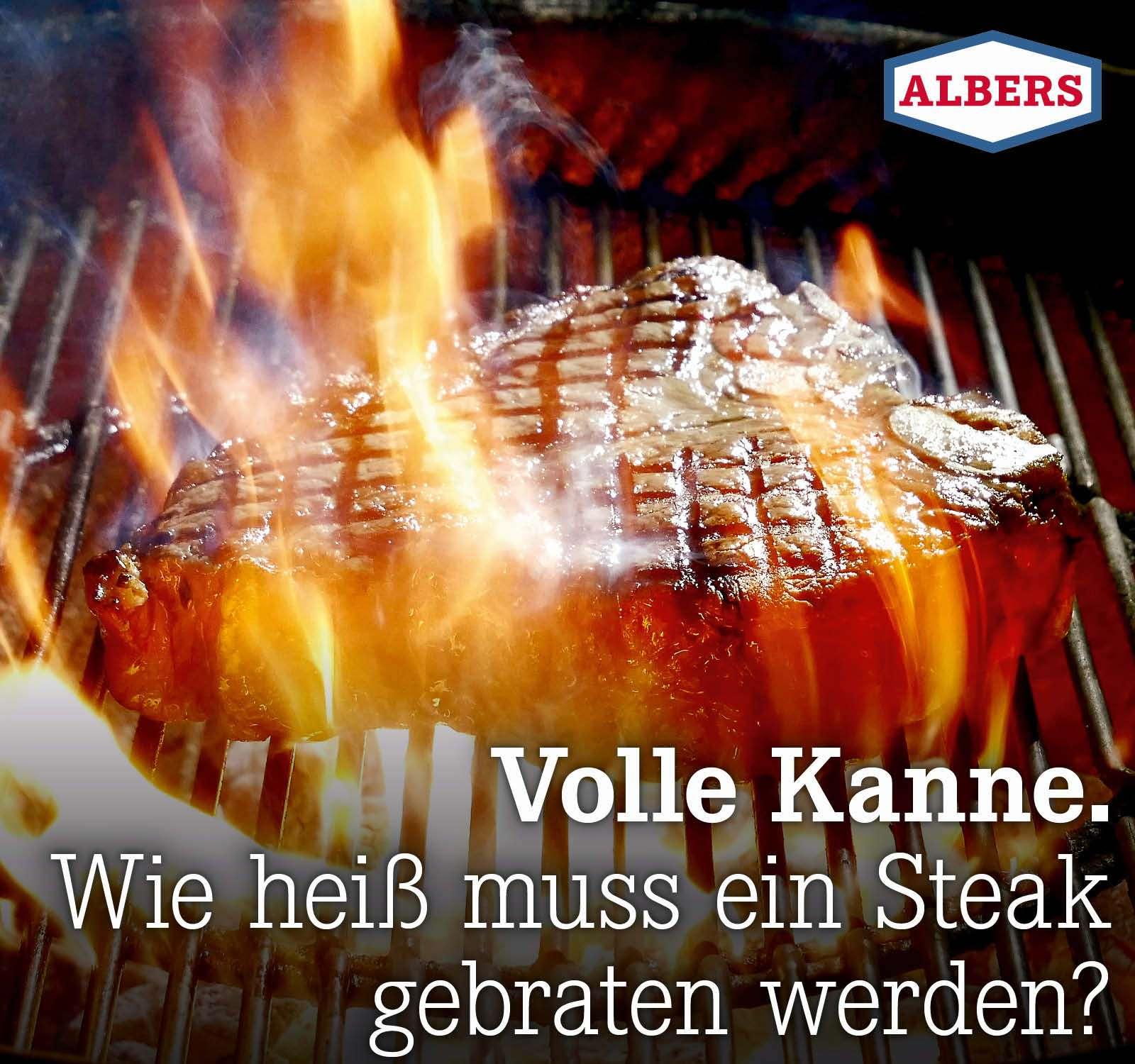 Volle Kanne. Wie heiß muss ein Steak gebraten werden?