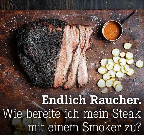 Wie bereite ich mein Steak mit einem Smoker zu?