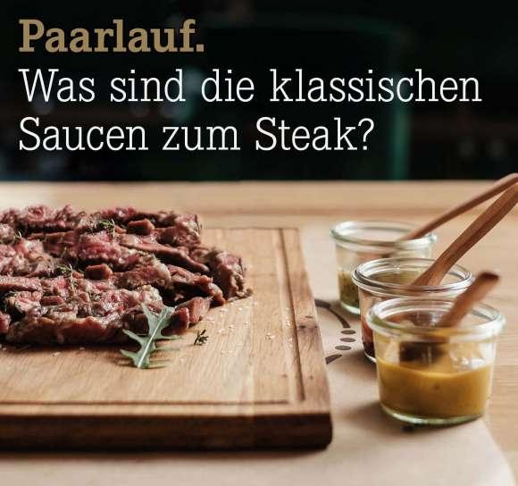 Warum braucht ein Steak eine Sauce?