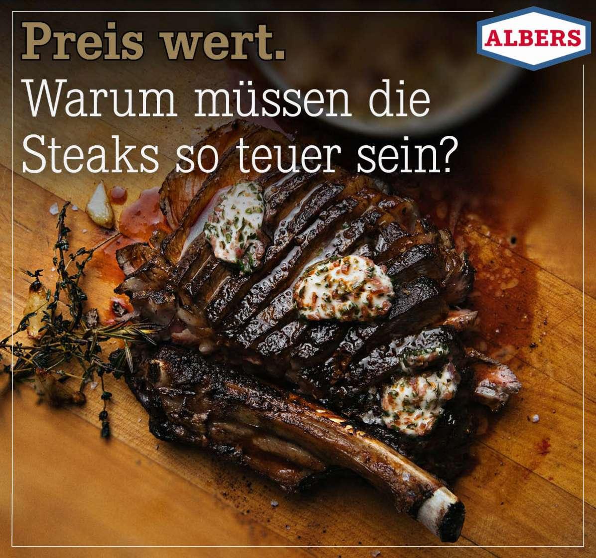 Preis wert. Warum müssen die Steaks so teuer sein?